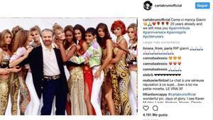 Publicación de Carla Bruni en su cuenta de Instagram.