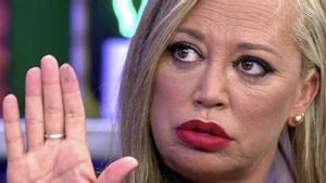 Belén Esteban la lía en 'Sálvame' al contar el falso embarazo de María Lama, presentadora de Kiss FM