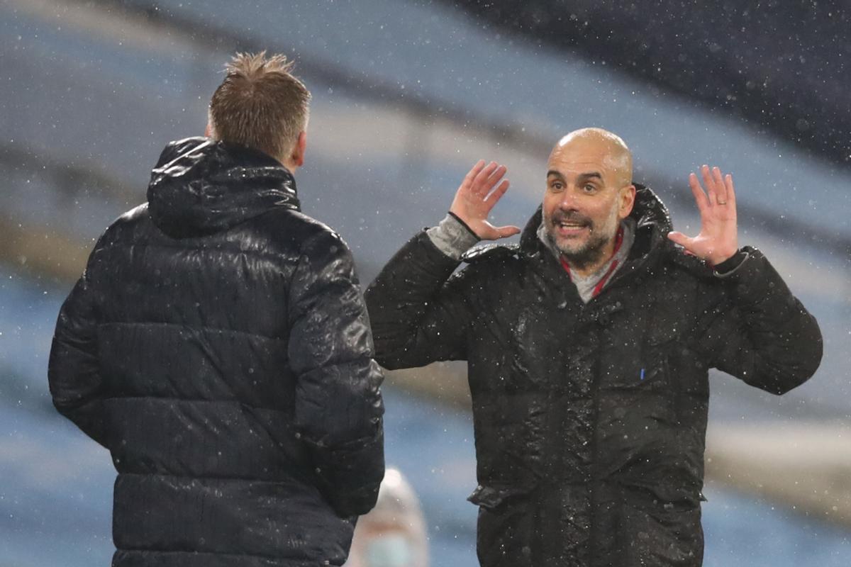 Guardiola, en el partido ante el Aston Villa.