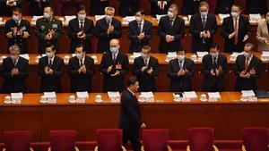 El presidente chino, Xi Jinping, a su llegada a la Asamblea.