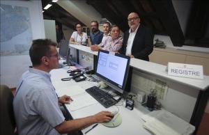 Corominas, Rovira, Sallellas y Serra registran la ley del referéndum el pasado día 31 de julio.