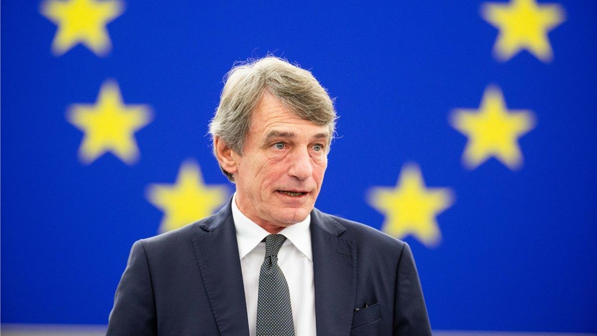 El presidente del Parlamento Europeo, David Sassoli, insta a cumplir la sentencia de Junqueras.