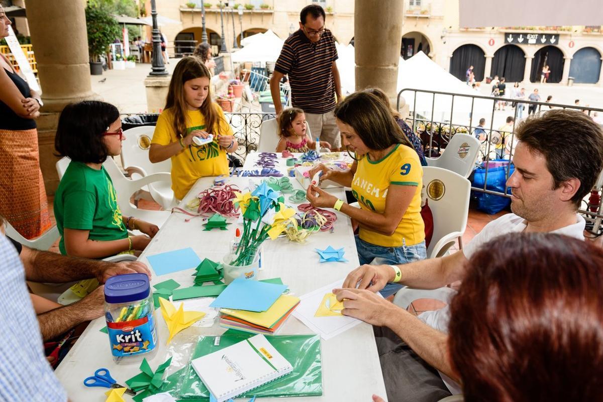 Actividad familiar del Festival del Día de Brasil.