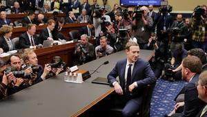 Zuckerberg, en su comparecencia.