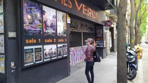 Los cines Verdi de Barcelona, cerrados durante el confinamiento