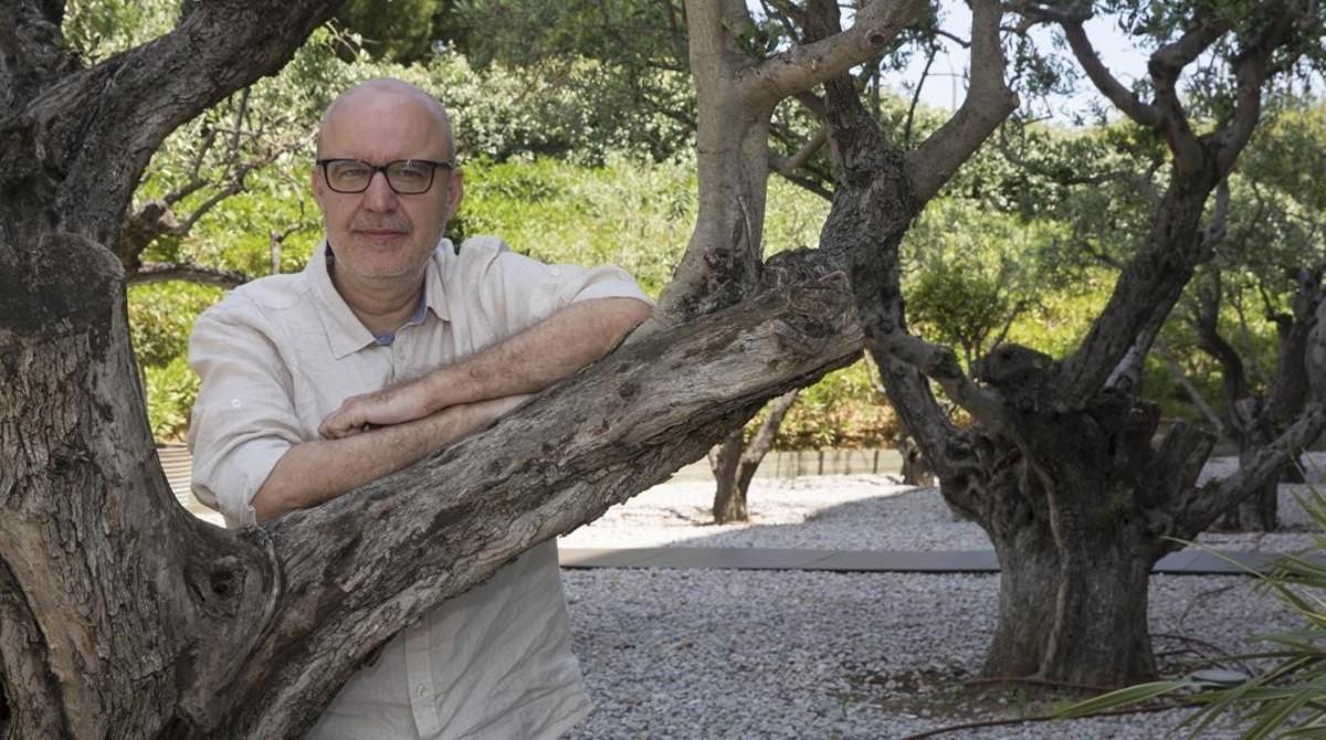 El director barcelonés Juanjo Giménez, Palma de Oro al mejor cortometraje por 'Timecode', este lunes en Sant Joan Despí.