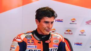 Marc Márquez (Honda) rompió a llorar de emoción al concluir, ayer, el GP de Portugal.
