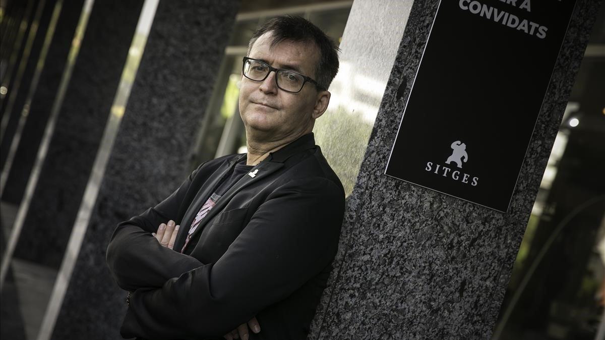 Ángel Sala, director del Festival de Sitges, fotografiado este jueves en el hotel Melià, centro neurálgico del certamen