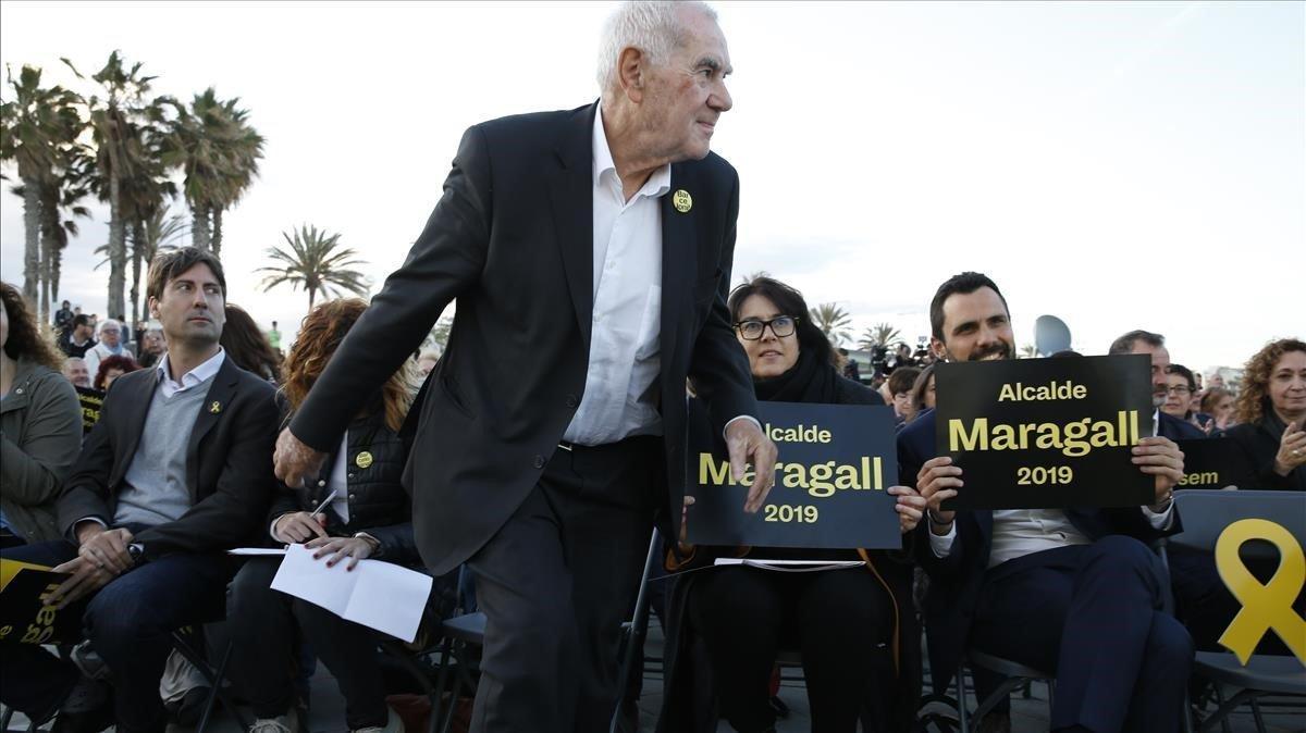 Maragall se presenta como el único que puede vencer a Colau