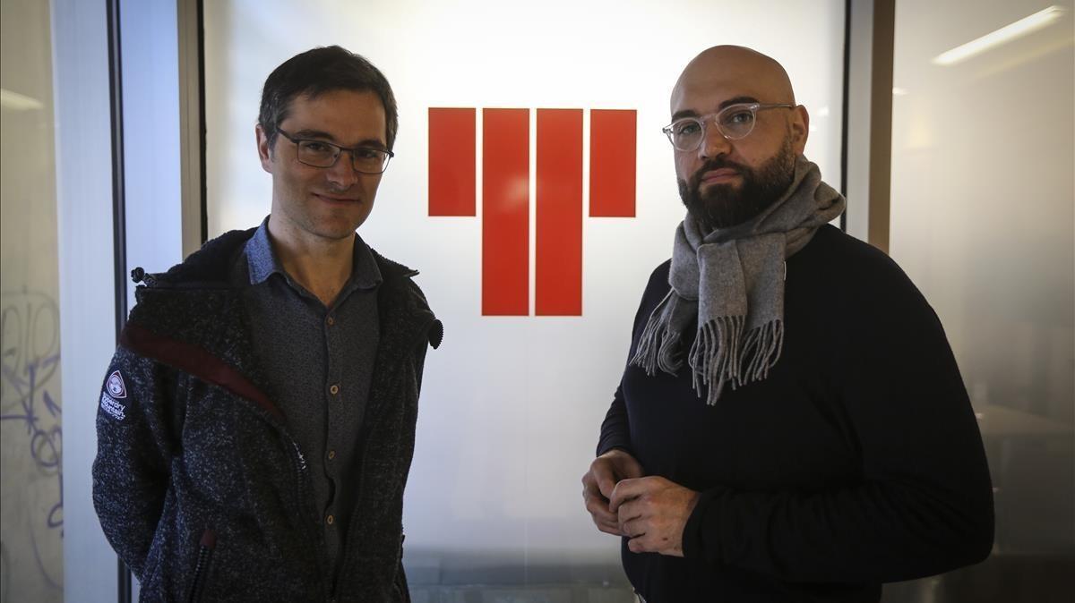 Dani Espasa (izquierda)y Xavier Sabata, en el Lliure.