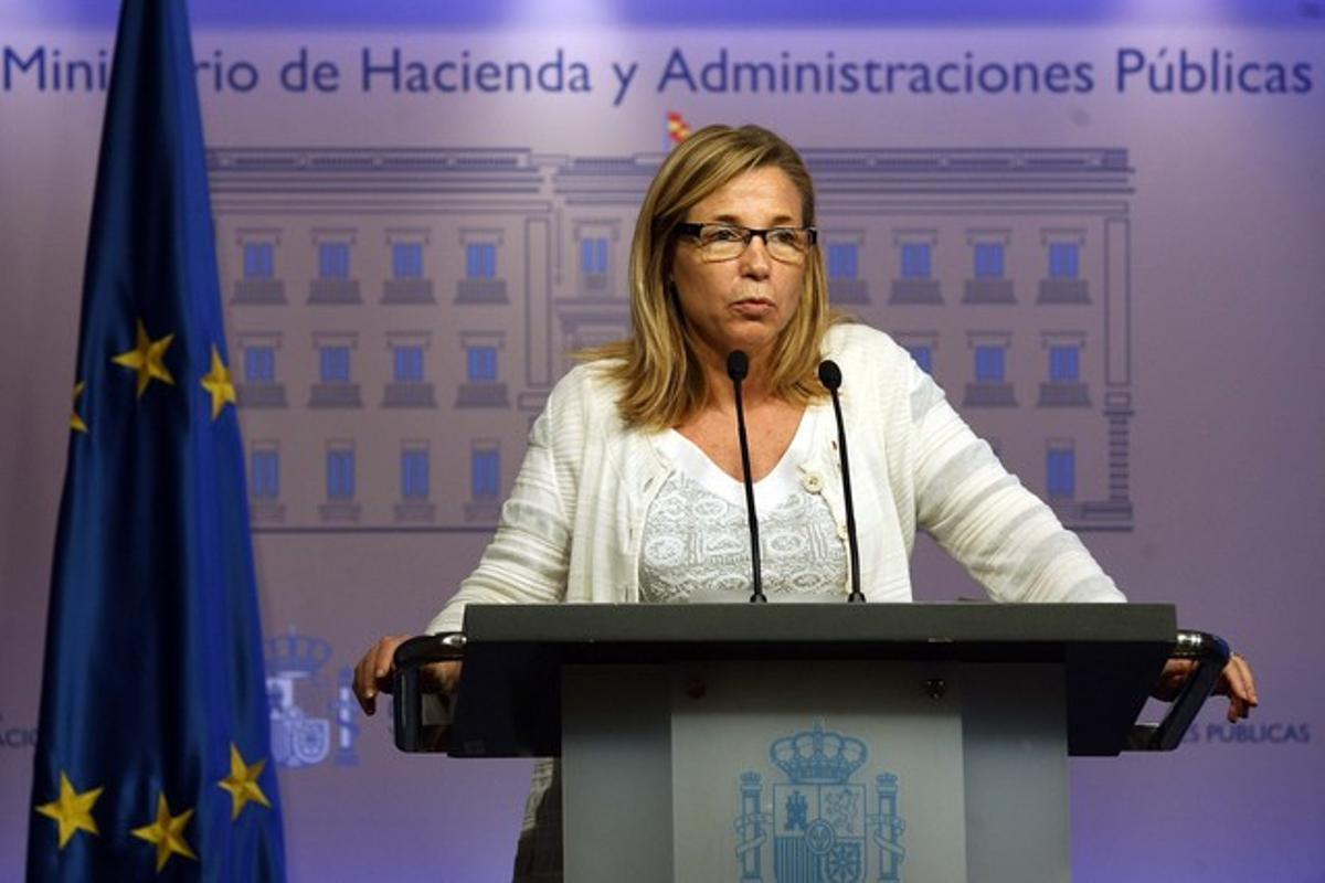 La presidenta en funciones del Govern, Joana Ortega, el pasado mayo. DAVID CASTRO