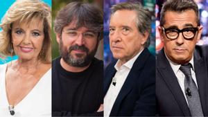 María Teresa campos, Jordi Évole, Iñaki Gabilondo y Andreu Buenafuente