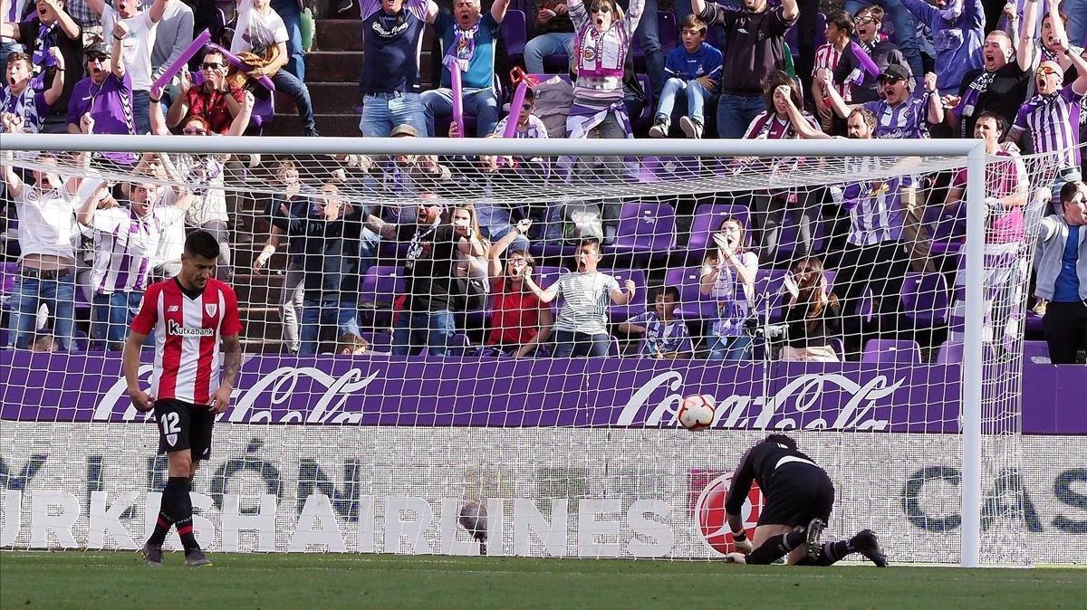 El Nuevo Zorrilla estalla tras el gol de Waldo Rubio al Athletic.