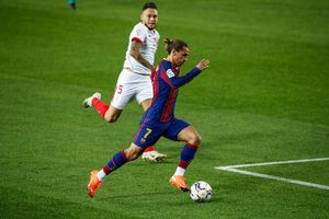 Griezmann, en el Camp Nou.