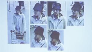 Imágenes de Abrini captadas por las cámaras de seguridad.
