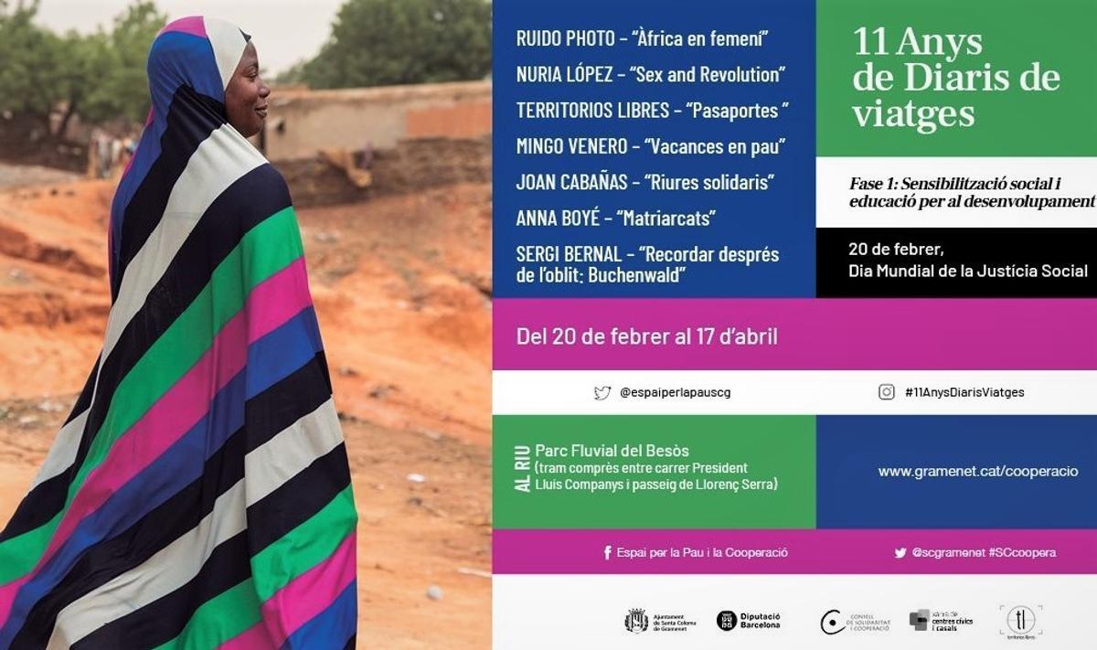 Exposición '11 años de Diarios de viajes' en Santa Coloma de Gramenet.