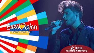 Blas Cantó interpretando 'Voy a quedarme' en 'Destino Eurovisión'