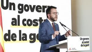 Pere Aragonès, en una conferencia.