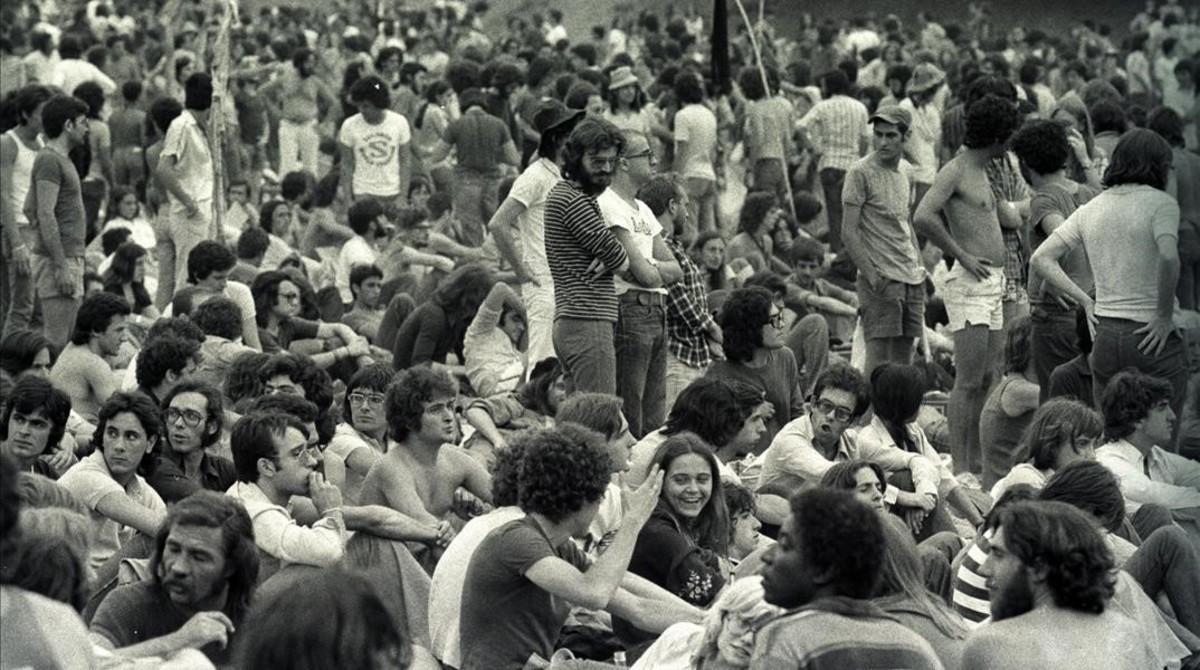 El festival de Canet Rock, en los años 70.