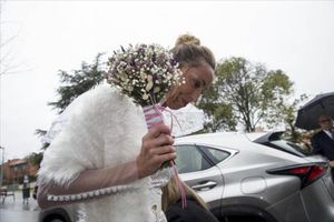 Gemma Mengual, a su llegada al restaurante de Sant Cugat, el sábado.