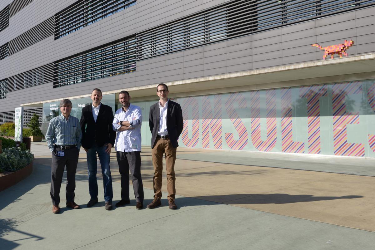 El equipo de Cebiotex, formado por Lucas Krauel, Joan Bertrán, Jaume Mora y José Antonio Tornero.