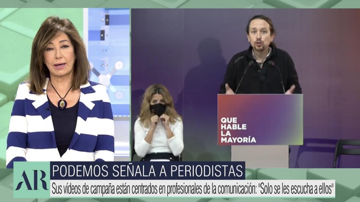 Ana Rosa ataca a Pablo Iglesias