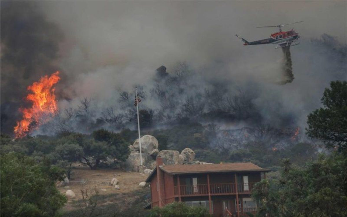 Incendios forestales en California, Estados Unidos.
