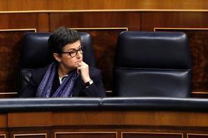 La ministra de Exteriores, Arancha González Laya, durante la sesión de control al Gobierno.