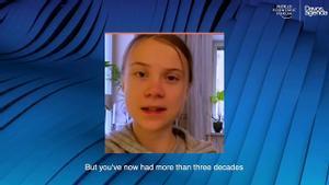 """Greta Thunberg, en Davos: """"La esperanza viene de la acción, no solo de las palabras"""