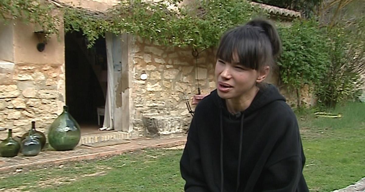 Beatriz Montañez en su casa