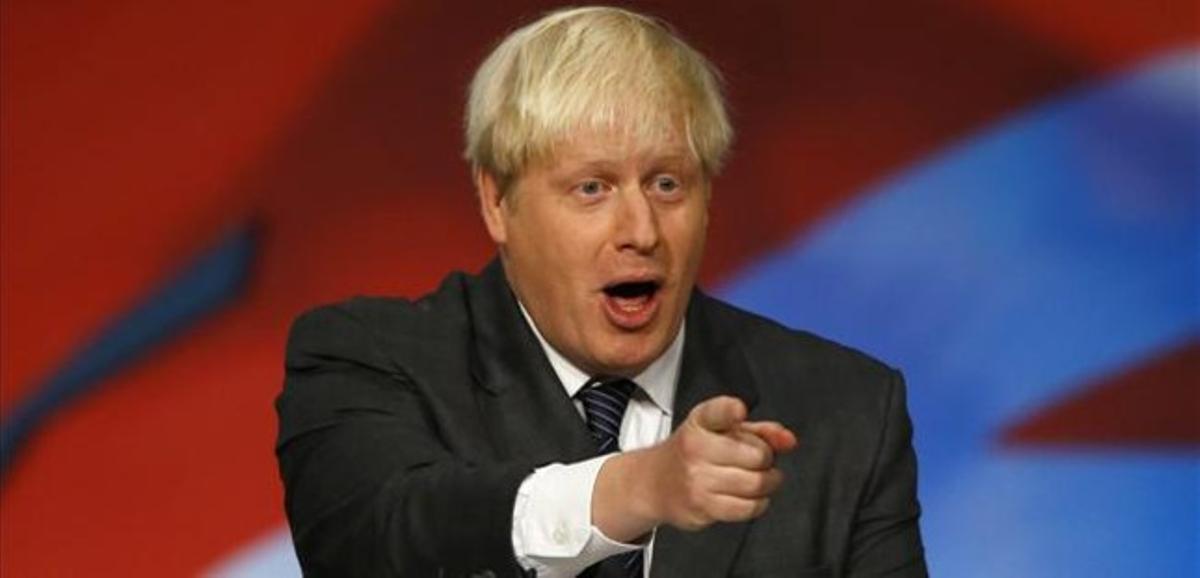 Boris Johnson, durante la conferencia del partido conservador.