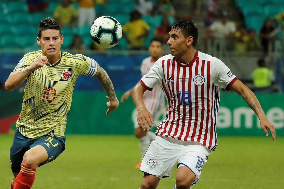 James Rodríguez y la selección colombiana en la Copa América 2019.