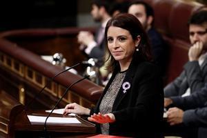 Adriana Lastra, durante su intervención.