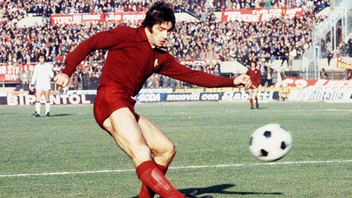 Paolino Pulici, en 1974, en el estado Comunale de Turín.