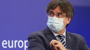 Carles Puigdemont en la Eurocámara.