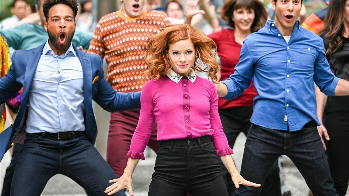 Una imagen de 'La extraordinaria playlist de Zoe', con Jane Levy en el centro.