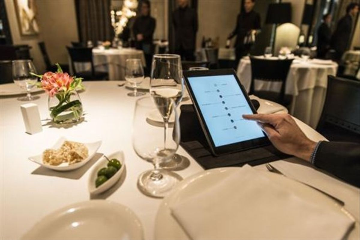 La tableta deWindsor, el último restaurante de Barcelona que ha incorporado lacarta digital.
