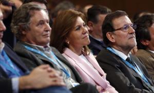 López del Hierro, Cospedal y Rajoy.
