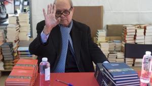El poeta, académico y escritorPere Gimferrer, en la 'diada'.
