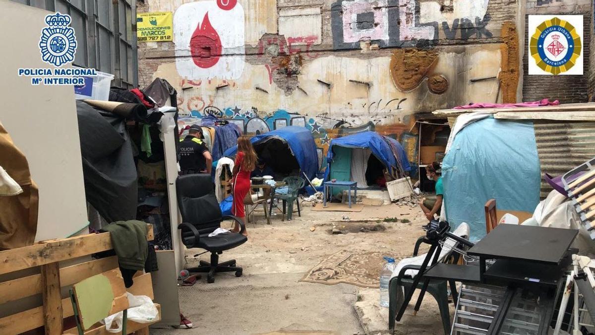 Barracas donde vivian los menores.