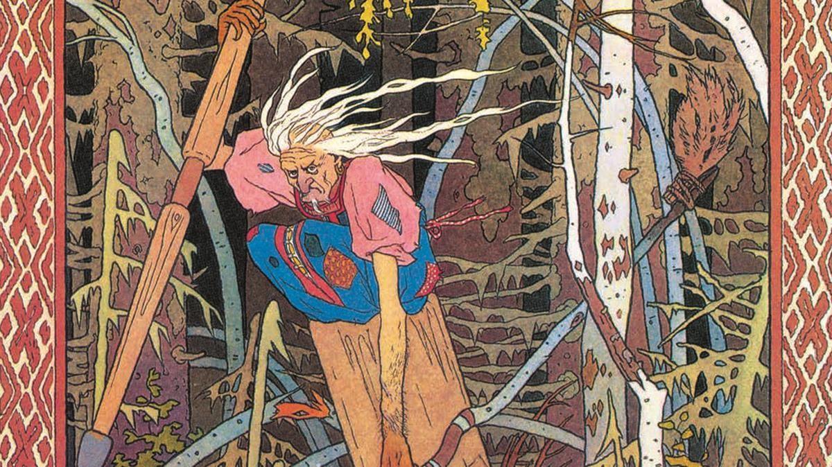 Una de las ilustraciones de ''El pájaro de fuego y otros cuentos rusos'