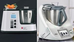 Los robots de cocina Monsieur Cuisine (izquierda), de Lidl,y Thermomix.