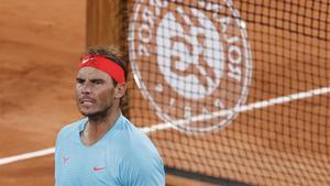 Rafa Nadal, tras ganar los cuartos de final en París.