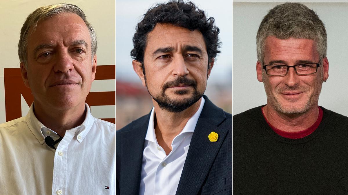 José Donoso, Damià Calvet y Sergi Saladié.