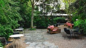 El famosísimo jardín del Hotel Alma, un oasis vegetal en plena Barcelona.