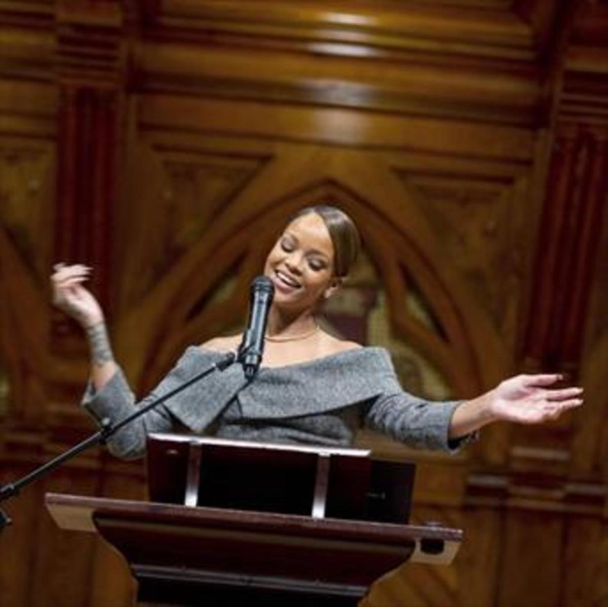 Una foto de archivo de Rihanna.
