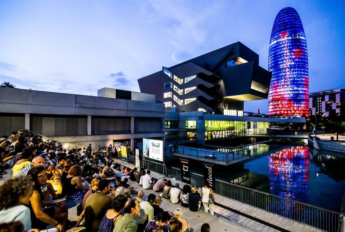 Panorámica del lugar donde se celebran estas sesiones de cine.