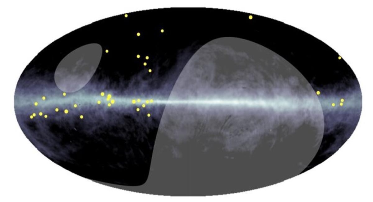Potentes aceleradores de partículas flotan por la Vía Láctea