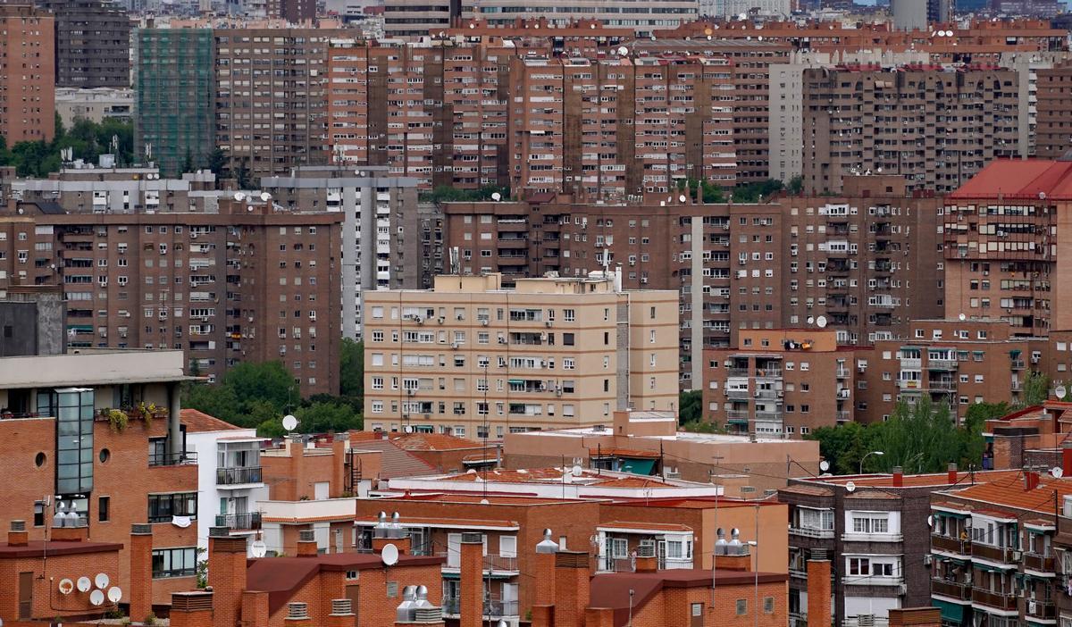 Viviendas en Madrid, en el barrio de Vallecas.