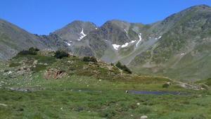 Paisaje veraniego del macizo del Carlit, en el departamente francés de Pirineos Orientales, una de las cumbres analizadas en el estudio.